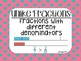 """""""Math in Focus"""" Vocabulary Cards 3rd Grade Chapter 14 (Fractions)"""