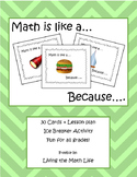 """Math is Like a..."" Ice breaker activity"