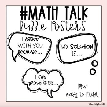 #MathTalk Bulletin Board Set