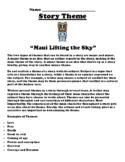 """Maui Lifting the Sky"" Polynesian Myth Theme Worksheet"