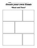 """Maui and Tuna"" Polynesian Myth Comic Worksheet"