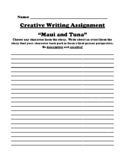 """Maui and Tuna"" Polynesian Myth Creative Writing Worksheet"
