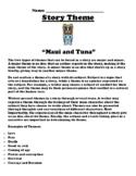 """Maui and Tuna"" Polynesian Myth Theme Worksheet"