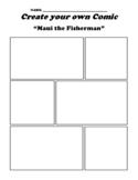 """Maui the Fisherman"" Polynesian Myth Comic Worksheet"