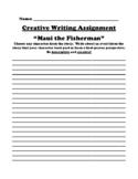 """Maui the Fisherman"" Polynesian Myth Creative Writing Worksheet"