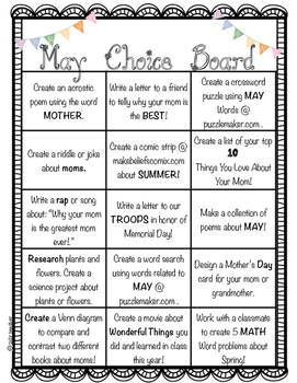 May Choice Board