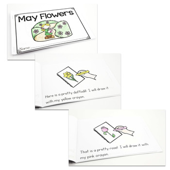 """May Flowers"" A May/Spring Emergent Reader and Response Dollar Deal"