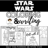 *May the Fourth* Star Wars Inspired Coloring & Writing Pag