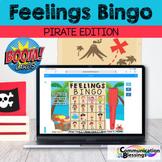 Distance Learning Feelings Bingo Pirate Theme Boom Cards Speech
