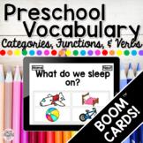 Preschool Language BOOM CARDS! DISTANCE LEARNING