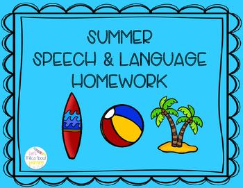 #MaySLPMustHave Summer Speech & Language Homework