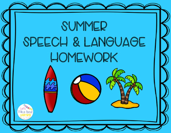 #MaySLPMustHave Summer Speech & Language Homework