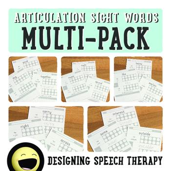 Articulation Sight Word Bundle