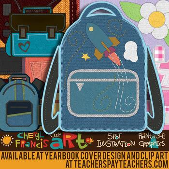 Fabric Backpacks Clip Art
