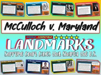 -McCulloch v. Maryland- Landmark Supreme Court Case (PPT, handouts & more)