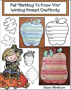 """""""Me!"""" A Fall-Themed Writing Prompt Craftivity"""