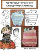 """Apple & Pumpkin Craft: Fall-Themed """"All About Me"""" Writing"""