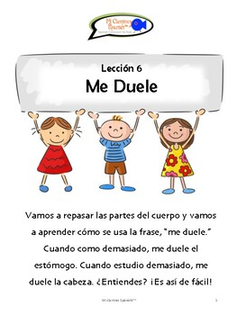 """""""Me Duele"""" & Parts of the Body Review (5 fun worksheets!)"""