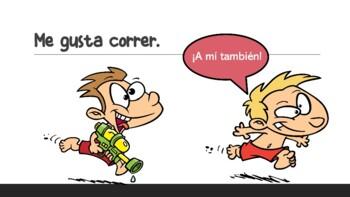 """Me Gusta"" & Verbs - ¿Qué te gusta hacer? (Presentation with Q&A)"