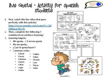 """Me Gusta"" & Verbs in Spanish!"