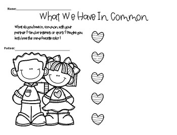 """Me, Too!"" Book Companion- Friendship"