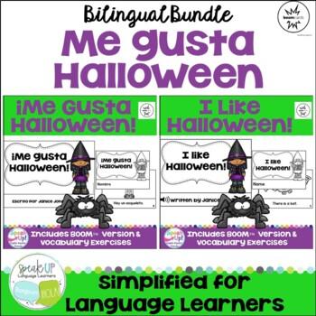 ¡Me gusta Halloween! ~ I like Halloween! Reader & Cut/Paste {Bilingual Bundle}