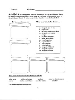 """Me gusta"": Song and Activity packet"