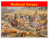 """Medieval Europe"" + Power Point + Activities + DBQ Assessments"