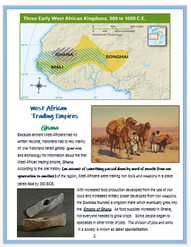 """Medieval West Africa"" -  An Overview + Assessments"