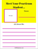 """Meet Your Practicum Student""One page introduction flyer"