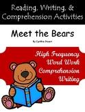 """Meet the Bears"" Guided Reading Program Activities"
