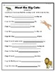 """""""Meet the Big Cats"""" Guided Reading Program Activities"""