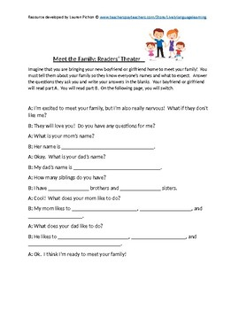 """""""Meet the Family"""" Readers' Theater"""