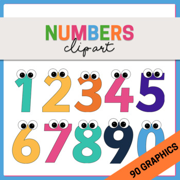 {Mega Pack} Coloured Numbers Clipart