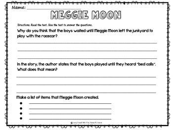 ~Meggie Moon~ Supplemental Literacy Activities