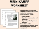 """Mein Kampf"" reading with questions - Adolf Hitler - World/Global History"