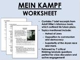 Mein Kampf worksheet