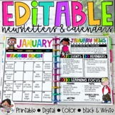 Calendar & Newsletter Template Bundle {Brights Kidlettes Edition}