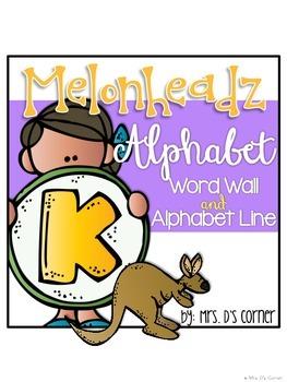 { Melonheadz Theme } Alphabet Word Wall Alphabet and Alphabet Line