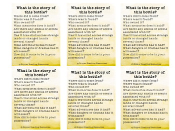 """""""Memory Bottles"""" by Beth Shoshan Writing and Reading Comprehension Activities"""