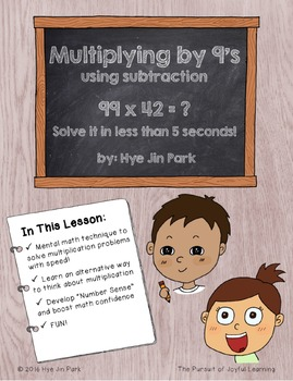 [Mental Math] Multiplying by 9's with speed!