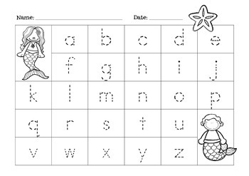 { Mermaid Alphabet }