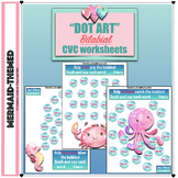 """Mermaid Friends"" Bilabial CVC Dot Art Worksheets"