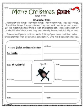 """Merry Christmas, Splat"" Activities For Reading, Writing, and Fun"