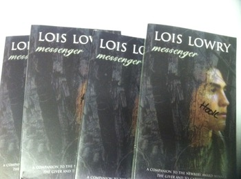 """Messenger (Sequel of ""The Giver"")"" books, by Lois Lowry - Lit Circle Set"