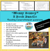 """Messy Bessey"" 5 book bundle; printables; reading comprehension questions"