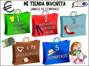 """Mi Tienda Favorita"" (Spanish Role-Play Game with Flashcards)"