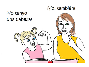 ¡Mi cuerpo! Coloring book, lesson, activities for learning body parts in Spanish