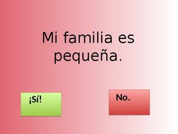 """Mi familia, mascotas y donde vivo"" Spanish Family practice"