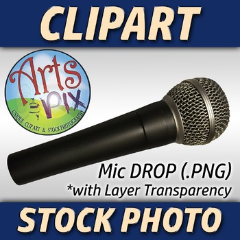 """""""Mic Drop"""" Clipart Stock Photo of a Microphone"""